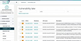Sample query TrustSource Vulnerbaility Lake